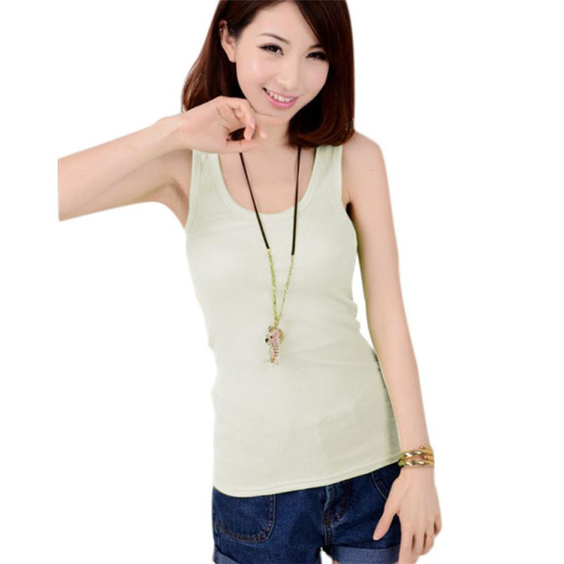 Newly design ladies sleeveless bodycon summer cotton long t shirt tank