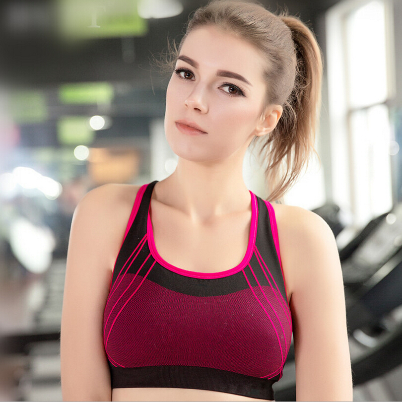 7f6171bc80e1c Sexy Woman Sportswear Fitness Running Clothes For Women Jogging Yoga  Seamless Sports Bra Padded Underwear Tennis Vest Top skirt