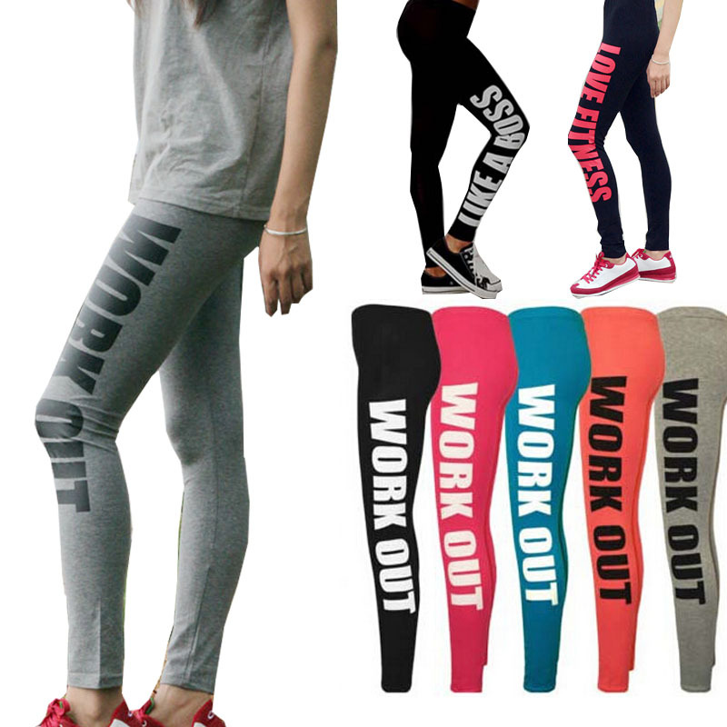 cute affordable price biggest selection Sport Leggings Workout Leggings for Women Workout Clothes gym 95% Cotton  Printed Workout Pants