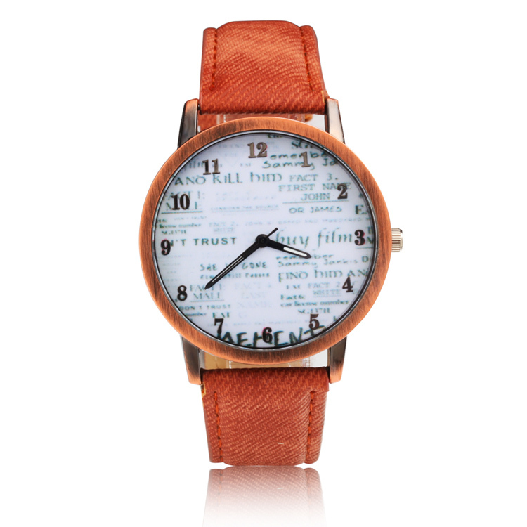 casual wrist watches sport retro leather